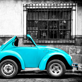 ¡Viva Mexico! Square Collection - Small Turquoise VW Beetle Car