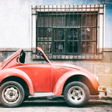 ¡Viva Mexico! Square Collection - Small Red VW Beetle Car III