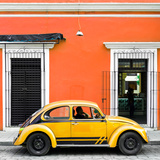 ¡Viva Mexico! Square Collection - VW Beetle Car - Orange & Gold