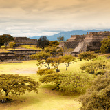 ¡Viva Mexico! Square Collection - Pyramid Maya of Monte Alban with Fall Colors III