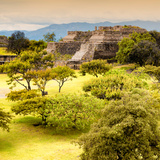 ¡Viva Mexico! Square Collection - Pyramid Maya of Monte Alban with Fall Colors IV