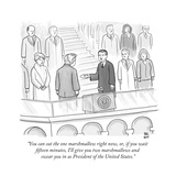 """""""You can eat the one marshmallow right now  or  if you wait fifteen minute - New Yorker Cartoon"""