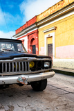 ¡Viva Mexico! Collection - Old Black Jeep and Colorful Street
