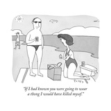 """If I had known you were going to wear a thong I would have killed mysef"" - Cartoon"