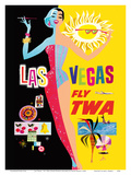 Las Vegas - Fly TWA (Trans World Airlines) - with Lockheed L-1049 Super Constellation Aircraft