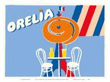 Orelia (Orangina) Beverage - Eifel Tower, Paris Reproduction d'art par Bernard Villemot