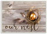 Our Nest Golden Egg Distressed Wood