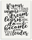 You Are A Leader Typography Quote