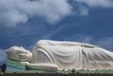 Vietnam  Mekong Delta My Tho  Vinh Trang Pagoda  Giant Reclining Buddha Statue