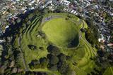 Volcanic Crater  Mt Eden  Auckland  North Island  New Zealand