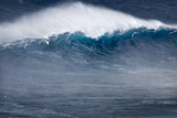Hawaii  Maui Kai Lenny Stand Up Paddle Board Surfing Monster Waves at Pe'Ahi Jaws