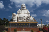 Vietnam  Mekong Delta My Tho  Vinh Trang Pagoda  Giant Sitting Buddha Statue
