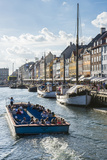 Fishing Boats in Nyhavn  17th Century Waterfront  Copenhagen  Denmark