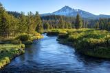 Oregon Mt Bachelor and Deschutes River