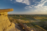 North Dakota  Overlooking an Eroded Prairie from an Erosion Formation
