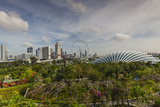 Singapore  Gardens by the Bay  Super Tree Grove  Elevated Walkway View with Singapore Skyline
