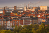 Denmark  Jutland  Aalborg  Elevated City View from the South