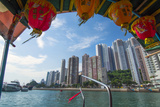 Hong Kong  China Aberdeen from Boat in Water of Reclaimed Land with Skyscraper Condos