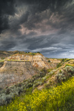 North Dakota  Theodore Roosevelt National Park  Thunderstorm Approach on the Dakota Prairie
