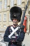 Royal Life Guard  Amalienborg  Winter Home of the Danish Royal Family  Copenhagen  Denmark