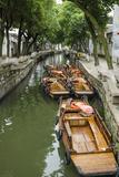 Chinese Gondola the Water Village of Tongli  China