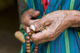 Hands Holding Chain  Close-Up  Chimi Lhakhang  Bhutan