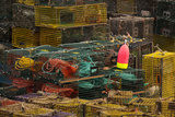 Maine  Bass Harbor  Lobster Traps and Buoy at Bass Harbor