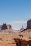 Navajo Man on Horseback  Monument Valley Navajo Tribal Park  Monument Valley  Utah