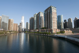 City Skyline and Chicago River  Chicago