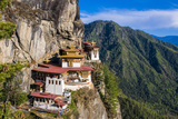 Tiger-Nest  Taktsang Goempa Monastery Hanging in the Cliffs  Bhutan