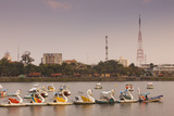 Vietnam  Hue Perfume River and Tourist Swan Boats  Sunset