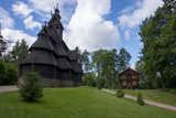 Norway  Oslo Historic Wooden Stave Church from Gol
