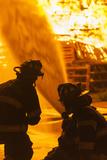 Massachusetts  Cape Ann  Rockport  Fourth of July Bonfire  Firemen