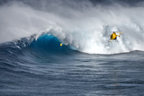 Hawaii Maui Helicopter Crew Filming Kyle Lenny Surfing Monster Waves at Pe'Ahi Jaws