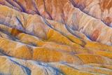 Eroded Hills Below Zabriskie Point  Death Valley National Park California Usa