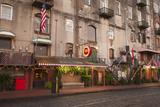 Georgia  Savannah  Historic Buildings Along River Street