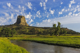 The Belle Fourche River N Devils Tower National Monument  Wyoming  Usa