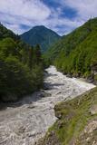 Patara Enguri River in Samegrelo-Zemo Svaneti Region  Georgia