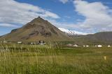 Iceland  Snaefellsnes Peninsula Small Fishing Village of Arnarstapi at the Foot of Mt