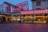 Pike Street Market in Downtown Seattle  Washington State  Usa