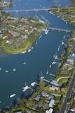 Bridges across Tamaki River Between Pakuranga and Panmure  Auckland  North Island  New Zealand