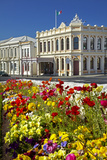 Flowers and Historic Buildings  Oamaru  North Otago  South Island  New Zealand