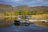 Autumn Reflections at Butchers Dam  Near Alexandra  Central Otago  South Island  New Zealand