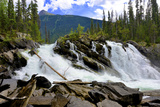 Ghost Lake Waterfall on the Matthew River in the Cariboo Mountains of BC