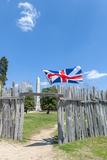 Virginia  Jamestown  Palisades and Tercentenary Monument