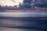 Georgia  Tybee Island  Stormy Sunrise on the Beach at Tybee Island
