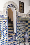 Morocco  Fes Interior Detail of a Restored Riad