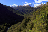 Expansive Landscape on the Road from Te Anau to Milford Sound  New Zealand