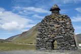 Tone Sculpture  Barour Snaefellsas a Character in Icelandic Sagas  Iceland