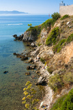 Cliffs of Talamone  Talamone  Grosseto Province  Maremma  Tuscany  Italy
